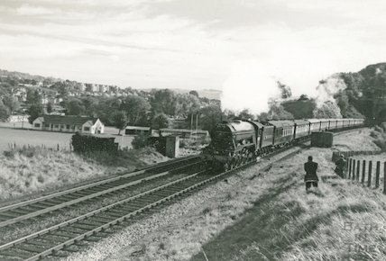 The Flying Scotsman leaving Twerton Tunnel, 19 October 1963
