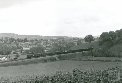 A diesel train approaching Twerton tunnel, 9 May 1964