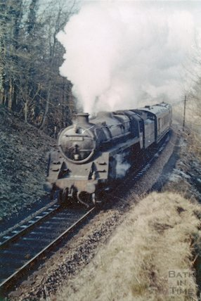 No.73071 at Lyncombe Vale on the Somerset & Dorset Joint Railway, c.1960s