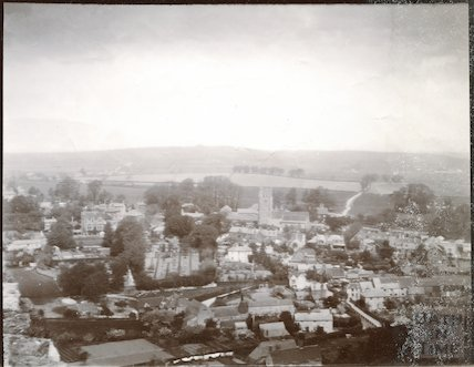 View from Carisbrooke Castle, Isle of Wight, c.1900s
