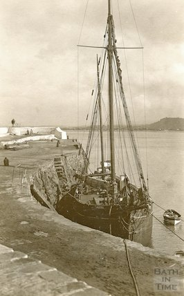 The Orestes in Minehead Harbour, c.1930