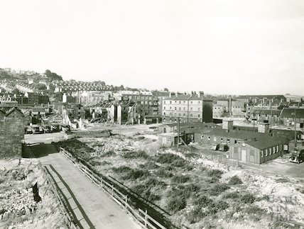 The cleared Avon Street and Peter Street area, c.1940s