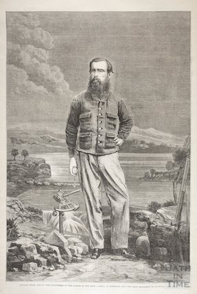 Portrait of Captain Speke, one of the discoverers of the source of the River Nile, 1863