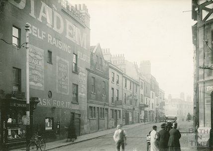 Corn Street, South side, east end. View from Southgate Street, c.1933