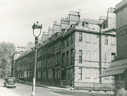Gay Street. East side from George Street to the Circus, c.1940s