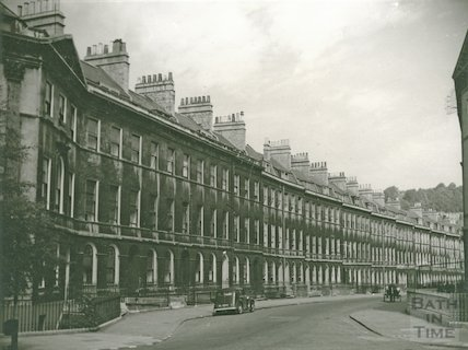 Henrietta Street, looking north from Laura Place, c.1940s