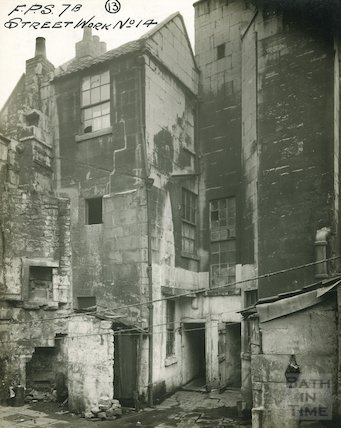 New Quay, Bath - rear of 5 & 6, c.1920s