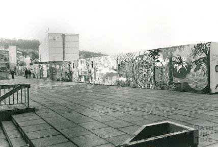 Murals on the Podium site above Walcot St Car Park, 1985