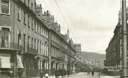 View up Pierrepont Street towards the Empire Hotel, c.1915