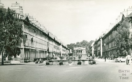 Laura Place and Great Pulteney Street, c.1960s