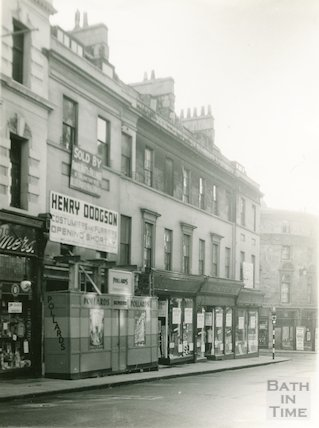 East side, lower end, Union Street, Bath, 1936