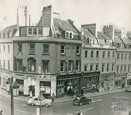 Mallory's on the corner of Bridge Street and Northgate Street, c.1965
