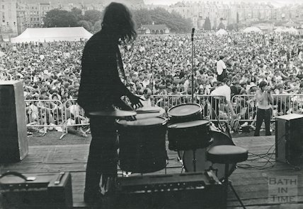 Setting up for Bath Blues Festival, June 28th 1969