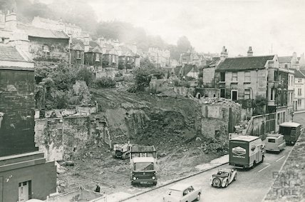 The demolition of Claverton Street, Widcombe, 3 August 1963
