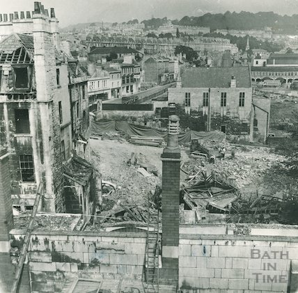 The demolition of Northgate Brewery and associated buildings, 12 October 1970