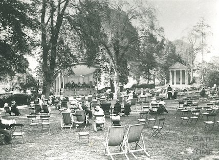Concert goers in front of the bandstand, Sydney Gardens, c.1910?