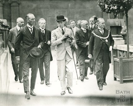 The Prince of Wales at the Roman Baths, July 18th 1923