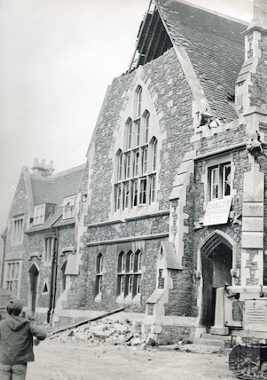 Weston Police Station and courtroom being demolished, 26 April 1971