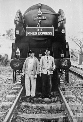 The Pines Express and engine driver, c.1920s