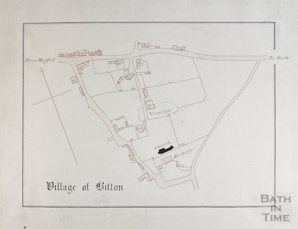 Map of village of Bitton 1830