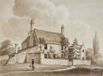Old cottage Oldland Common near Cully Hall, 1830 ?