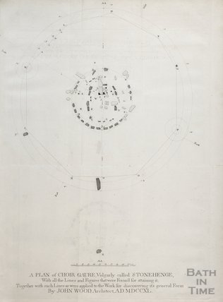 A Plan of Choir Gaure, vulgarly called Stonehenge, by John Wood, 1747