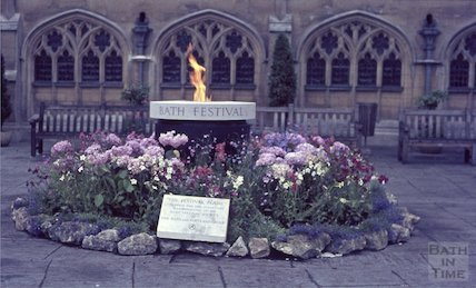 The Festival Flame for the Bath Festival, Abbey Church Yard, 1965