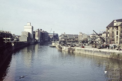 View from the Old Bridge towards Broad Quay, 1963