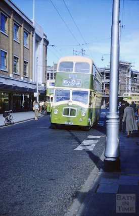 The 45 bus in Brighton, c.1960s