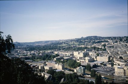 View of Bath from Beechen Cliff looking west, c.1970s