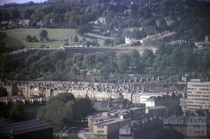 The Royal Crescent, Bath viewed from Beechen Cliff, c.1970s