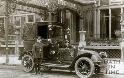 Bath Taxi outside the Empire Hotel, Bath, c.1910
