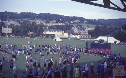 Bath girl guides on the Recreation Ground, c.1960s