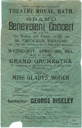 Playbill for Grand Benevolent Concert, April 8th 1914
