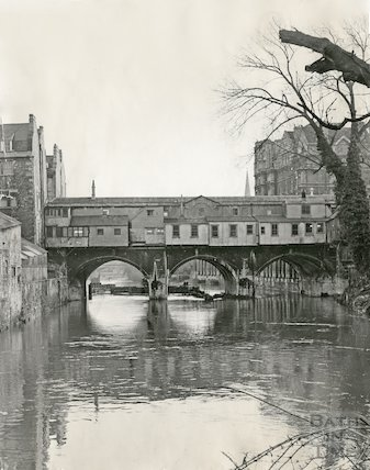 Rear of Pulteney Bridge, Bath, 11 May 1970