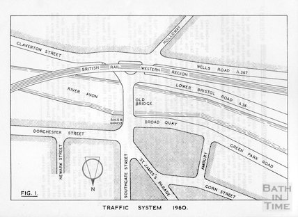 The traffic system at the bottom of the Holloway, 1960
