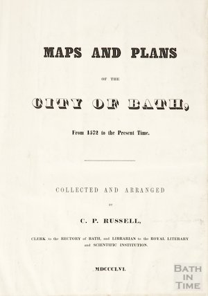 Title page of Russell Maps and Plans of the City of Bath 1856