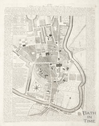 1760 A new and correct plan of Bath and Places adjacent