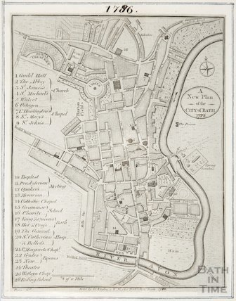 A New and Plan of the City of Bath 1786