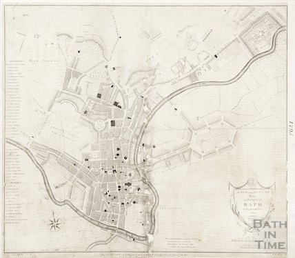 A New and Accurate Plan of the City of Bath to the present year 1795