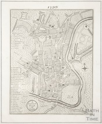 A Correct Plan of Bath 1804