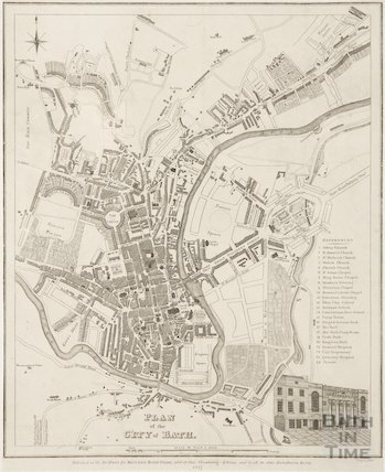 Plan of the city of Bath 1817