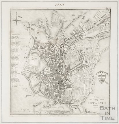 A new and correct plan of the city of Bath reduced from a recent survey 1818