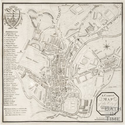 A new and correct plan of the city of Bath reduced from a recent survey 1827