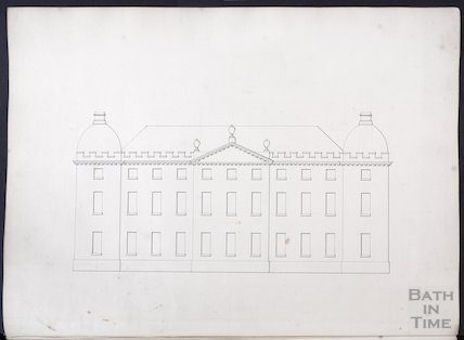 Elevation by John Wood the elder, possibly of the Great House, Kelston, c.1750s