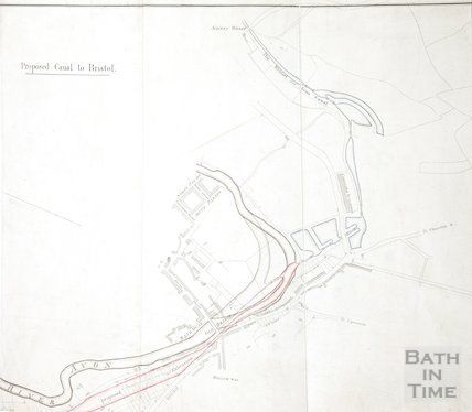 Proposed canal to Bristol linking the River Avon to the Kennet and Avon Canal c.1800?
