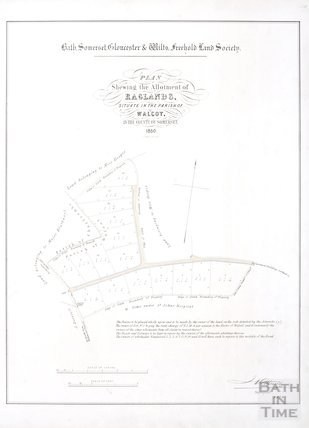 Plan showing the allotment of Raglands, situate in the Parish of Walcot, in the county of Somerset 1850