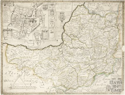 c.1693 Map of Sommersetshire by Philip Lea