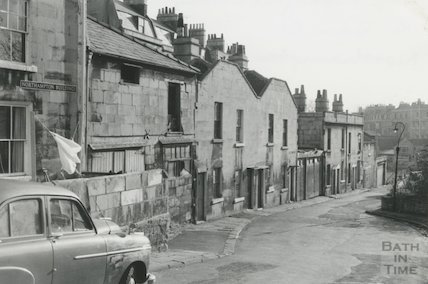 Prospect Cottages & Northampton Cottages looking to Julian Road, Northampton Buildings, c.1960s