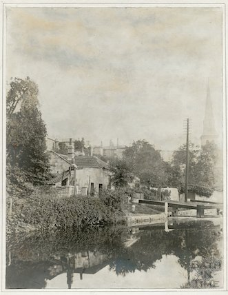 Canal Cottages, Widcombe, Bath c.1920